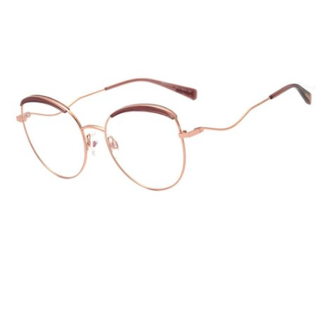 Óculos Armação Hickmann HI1096 05A Dourado com Marrom Metal