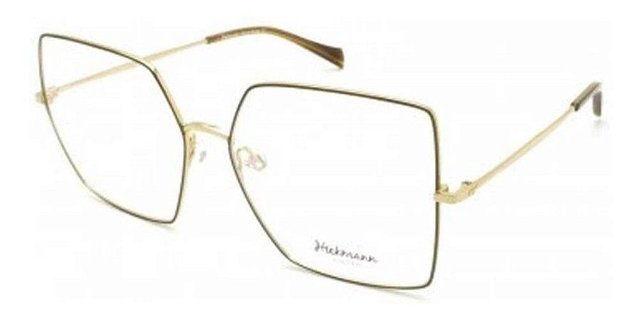 Óculos Armação Hickmann Hi1071 01a Dourado Metal  Feminino