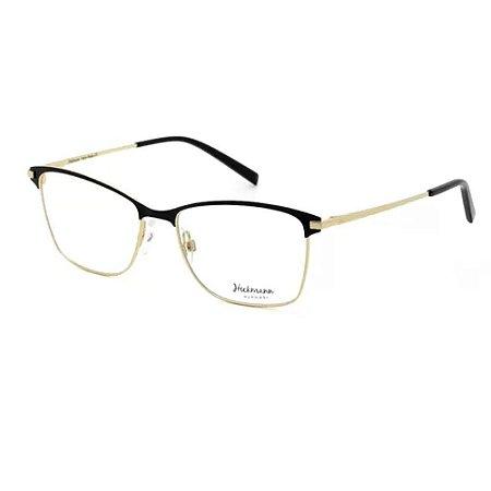 Óculos Armação Hickmann HI1060 09A Preto Metal Feminino