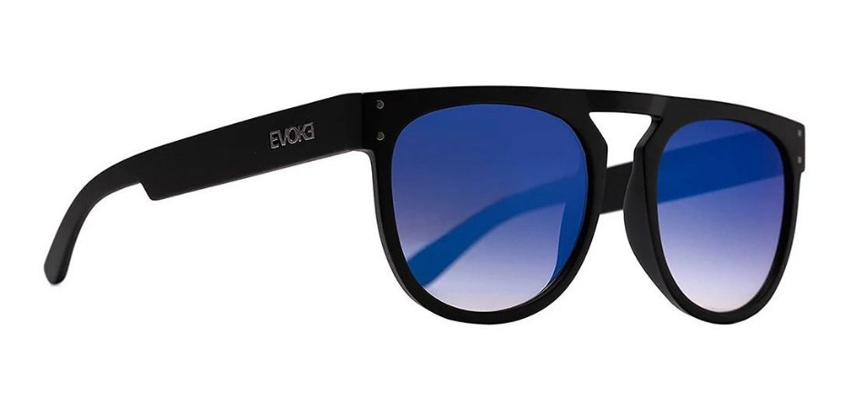 Óculos De Sol Evoke Ghost  Preto Lente Azul A11s Masculino