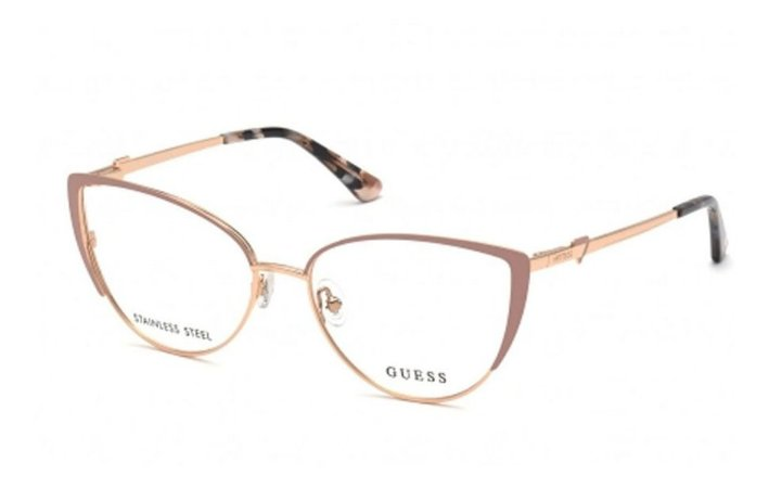 Óculos Armação Guess Gu2813 058 Metal Dourado Com Nude