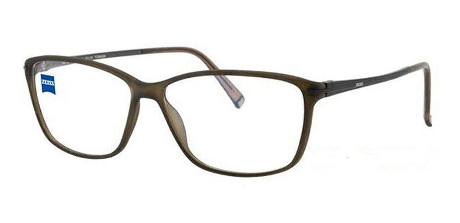 Óculos Armação Zeiss Zs-10001 F442 Unissex Haste Titanium
