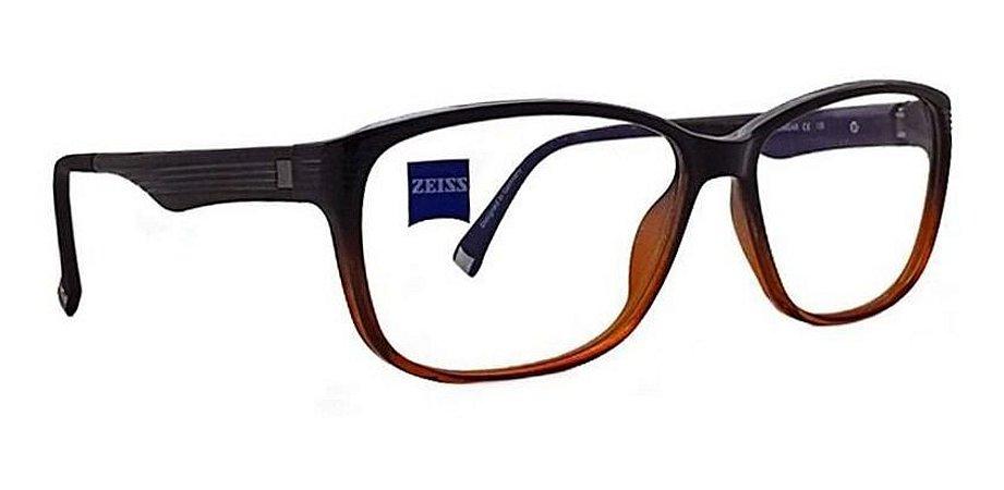 Óculos Armação Zeiss Zs-10005 F142 Marrom Degrade Acetato