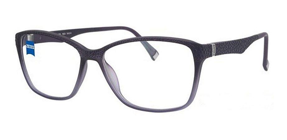Óculos Armação Zeiss Zs-10006 F820 Roxo Translucido Feminino