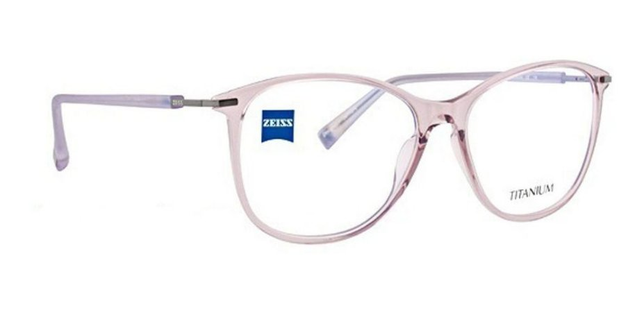 Óculos Armação Zeiss Zs-10011 F800 Feminino  Titanium