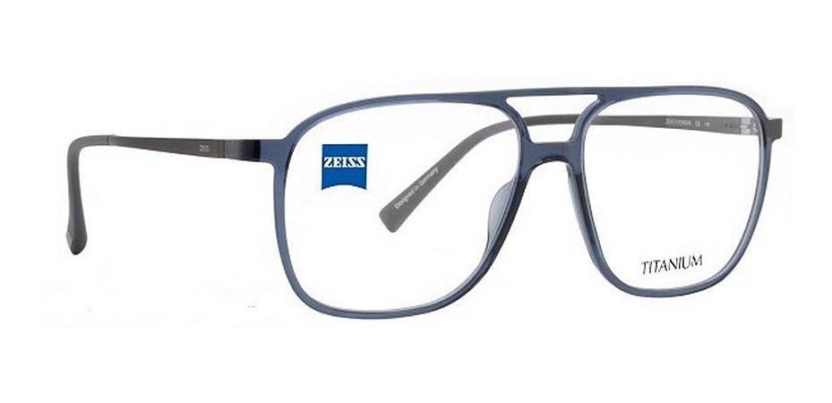 Óculos Armação Zeiss Zs-20018 Azul Haste Titanium F500