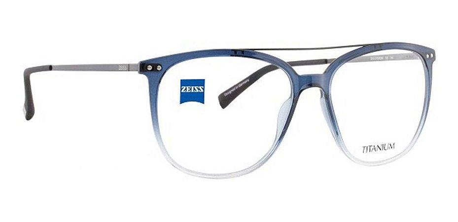 Óculos Armação Zeiss Zs-20028 F520  Azul Acetato/titanium