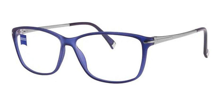 Óculos Armação Zeiss Zs-1001 F550 Unissex Haste Titanium