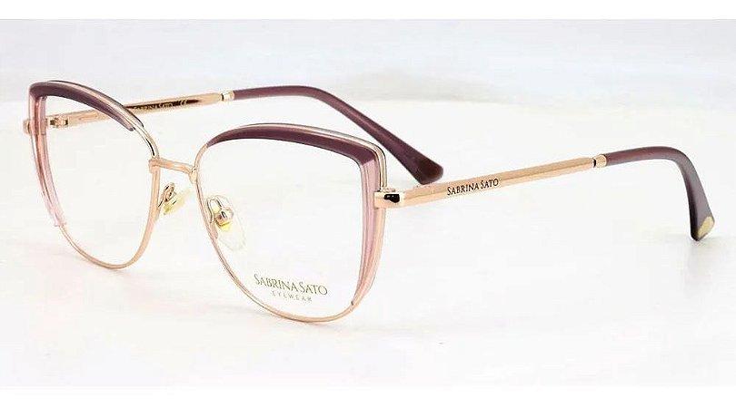 Óculos Armação Sabrina Sato Ss550 C4 Rose Metal Feminino