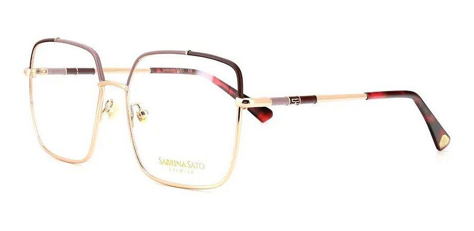 Óculos Armação Sabrina Sato Ss640 C2 Dourado Metal Feminino