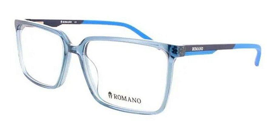Óculos Armação Romano Ro1094 C2 Azul Translucido Masculino