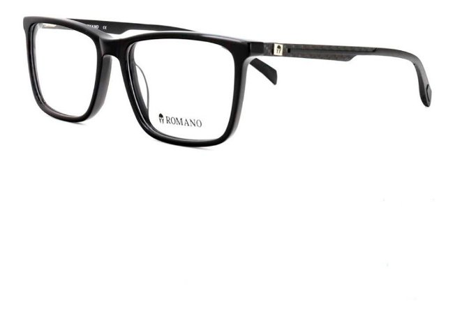 Óculos Armação Romano Ro1067 C1 Preto Brilho Masculino