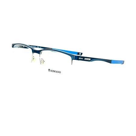 Óculos Armação Romano RO1079 C3 Azul Acetato Masculino