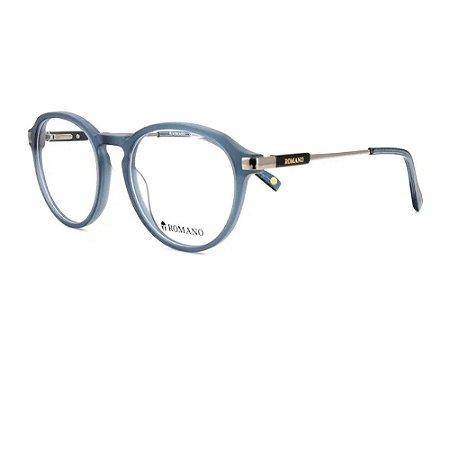 Óculos Armação Romano RO1116 C2 Azul Acetato Masculino