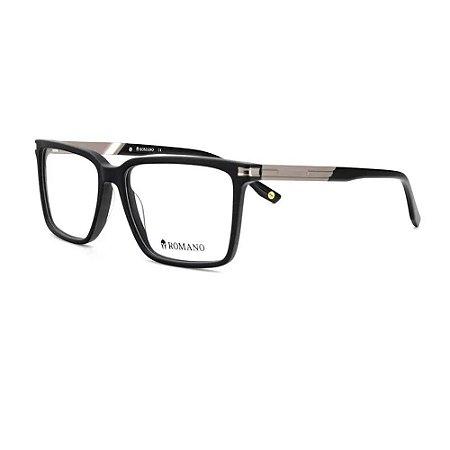 Óculos Armação Romano RO1113 C1 Preto Fosco Masculino