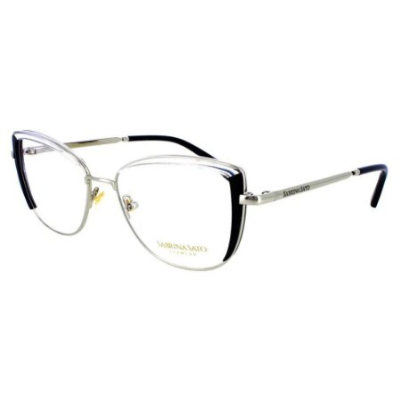 Óculos Armação Sabrina Sato SS550 C1 Prata Metal Feminino