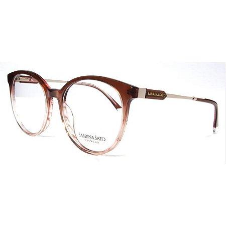 Óculos Armação Sabrina Sato SS159 C2 Marrom Degrade Feminino