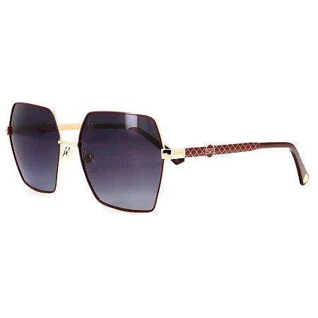 Óculos Solar Sabrina Sato SS669 C2 Dourado com Vinho Metal