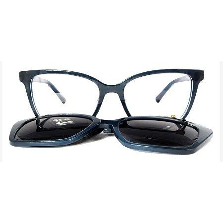 Óculos Armação Sabrina Sato SS549 C5 Clip on Azul Acetato