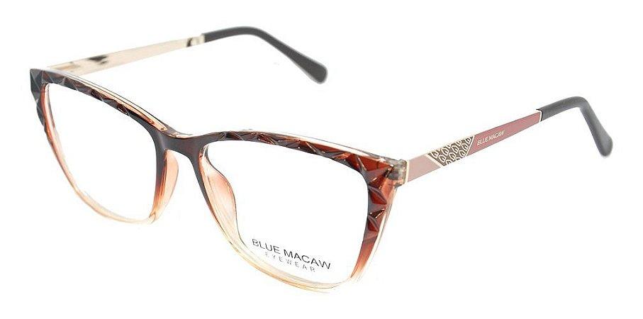 Óculos Armação Blue Macaw Fd633135 C2 Marrom Degrade