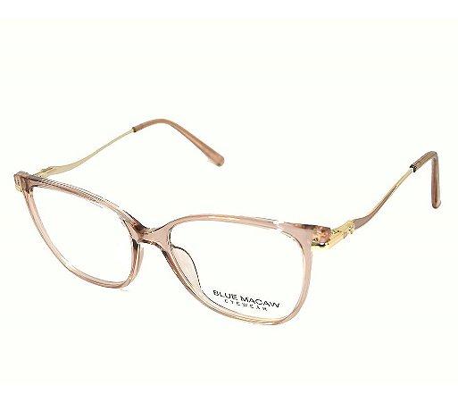 Óculos Armação Blue Macaw Fd633112 C2 Translucido Feminino