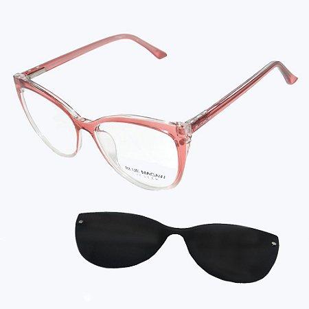 Óculos Armação Blue Macaw Cf-a5104 C5 Rosa Translucido