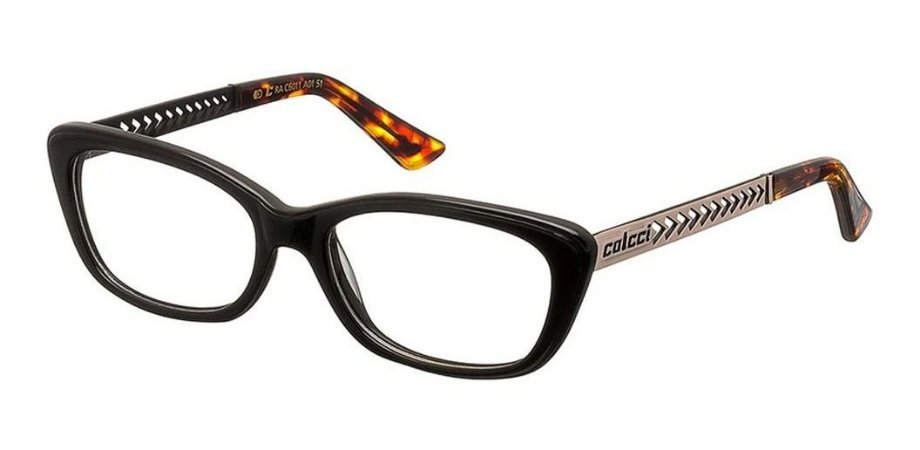 Óculos Armação Colcci C6011 A01 Preto E Dourado Feminino