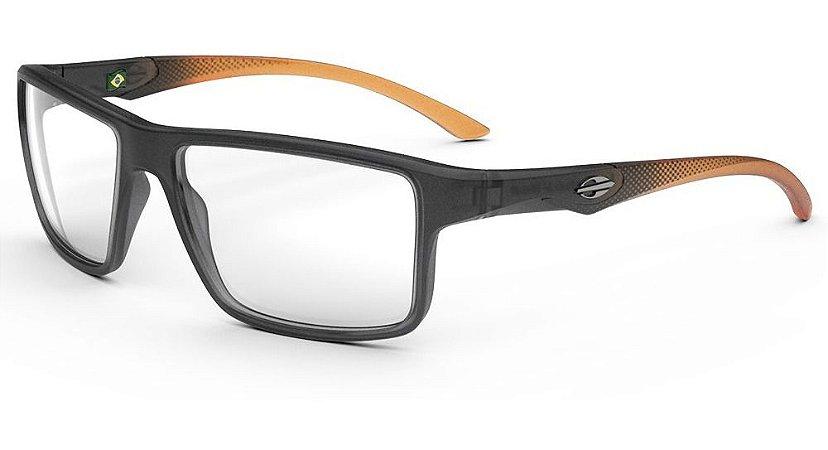 Óculos Armação Mormaii Istambu M6107d7055 Cinza Fume Laranja