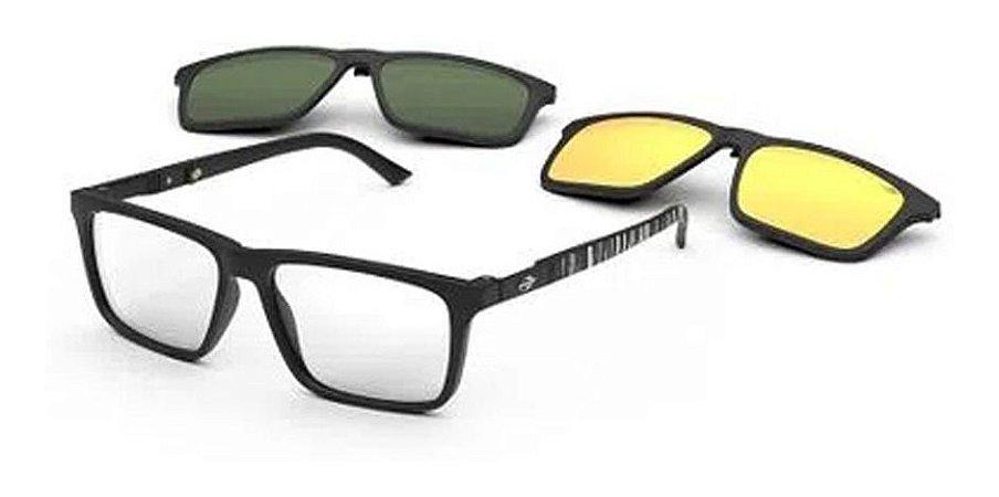 Óculos Armação Mormaii Swap 4 M6112aco55 Preto Clip-on