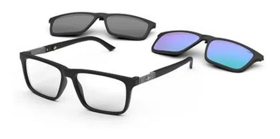 Óculos Armação Mormaii Swap 4 M6112afe55 Preto Fosco Clip-on