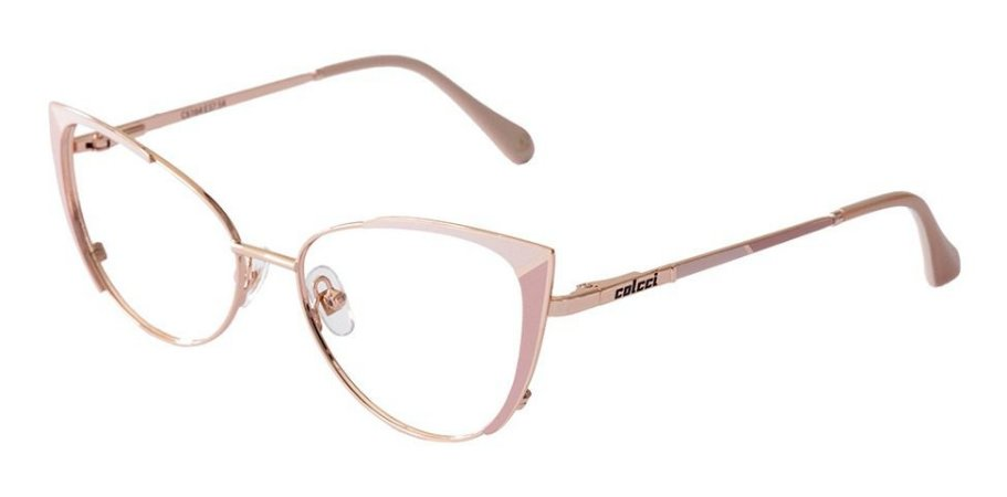 Óculos Armação Colcci C6164e3754 Gatinho Rosa