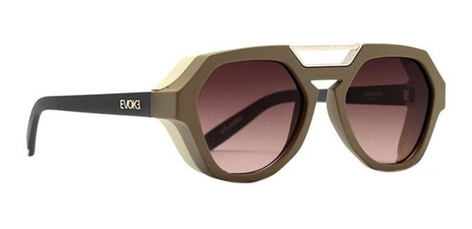 Óculos De Sol Evoke Avalanche Haste Cinza Lente Marrom E11