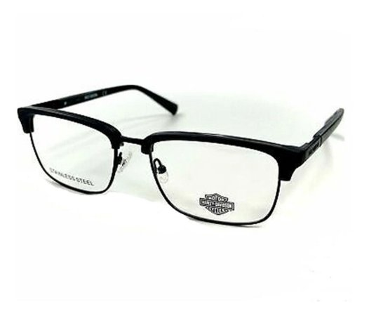 Óculos Armação Harley Davidson Hd0862 002 Cinza Escuro Fosco