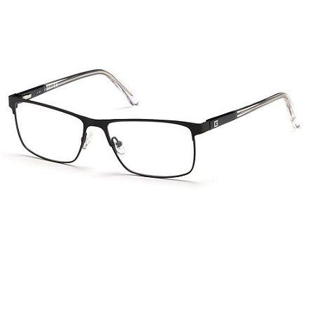 Óculos Armação Guess GU1972 002 Preto Metal Masculino