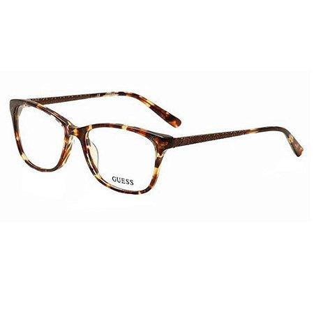 Óculos Armação Guess GU2500 047 Marrom Mesclado Acetato