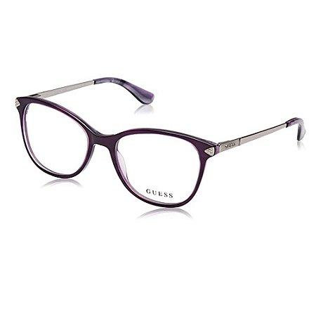 Óculos Armação Guess GU2632-S 081 Roxo Translucido Acetato
