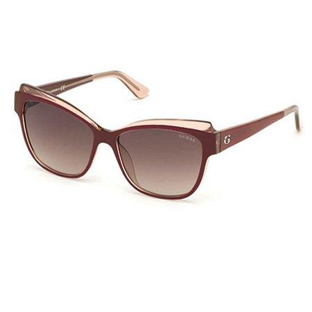 Óculos Solar Guess GU7592 68F Vinho Acetato Feminino