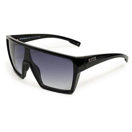 Óculos Solar Evoke Bionic Alfa A01 Preto Brilho Lente Cinza