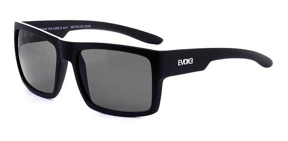 Óculos De Sol Evoke The Code 2 A01 Preto Fosco / Cinza