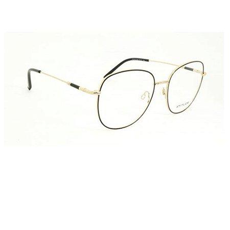 Óculos Armação Atitude AT2076 09A Dourado com Preto Feminino