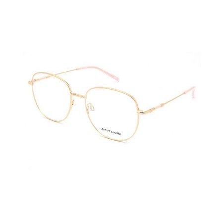 Óculos Armação Atitude AT2076 05A Dourado Metal Feminino