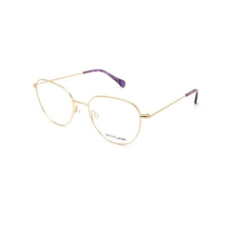 Óculos Armação Atitude AT2086 05A Dourado Metal Feminino
