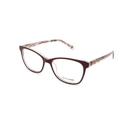 Óculos Armação Atitude AT7115 C01 Bordo Acetato Feminino