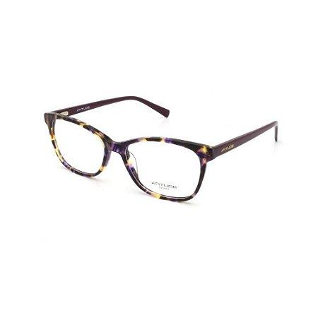 Óculos Armação Atitude AT7115 G24 Roxo Mesclado Acetato