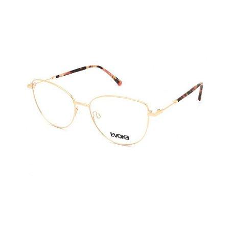 Óculos Armação Evoke EVK RX24 05A Dourado Metal Feminino