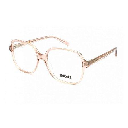 Óculos Armação Evoke EVK RX51 K01 Rosa Translucido Feminino