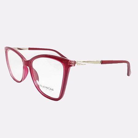 Óculos Armação Blue Macaw Br99078 C4 Vermelho Acetato
