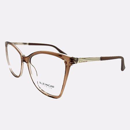 Óculos Armação Blue Macaw Br99078 C5 Marrom Translucido