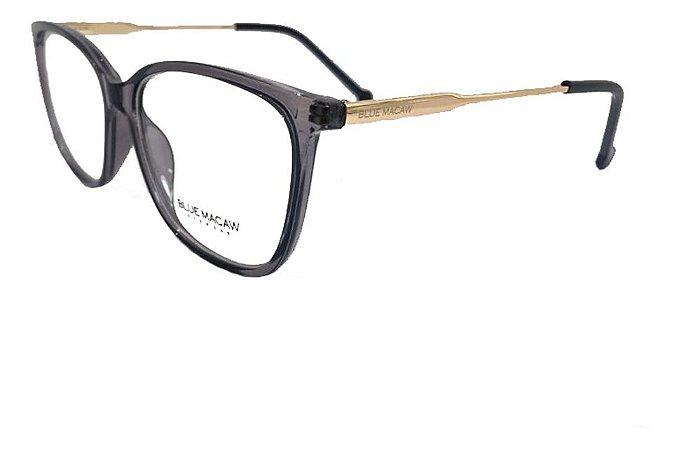 Óculos Armação Blue Macaw M131 @123 Preto Translucido