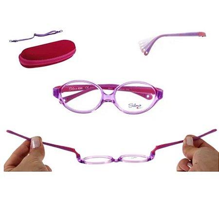 Óculos Armação Silmo Kids SK01 C6 Violeta Translucido Menina
